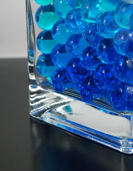 Liquid Vase Gems Jumbo Blue