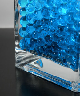 Liquid Vase Gems Blue