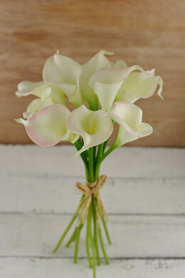 Calla Lily Bouquet Natural Touch Flowers Pink (12 flowers)