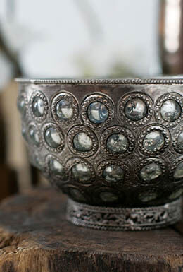 """Jeweled Gypsy Compote 7""""x 4.5"""""""