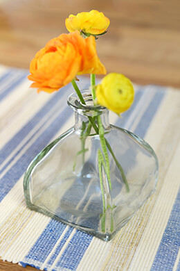 Glass Bottle Bud Vase 4""