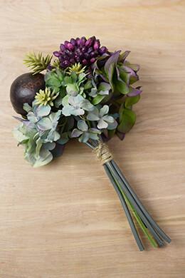 Tropical Green Hydrangea Sedum & Coconut Bouquet