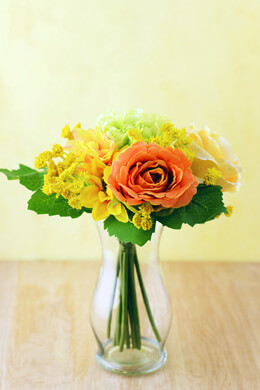 Yellow & Orange Flower Bouquets  10in