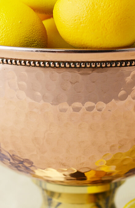 "Copper Pedestal Bowl 7"""