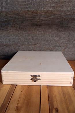 Unfinished Wood Cigar Box