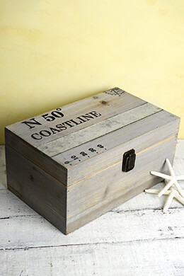 Wood Maritime Box with Latch 13x8