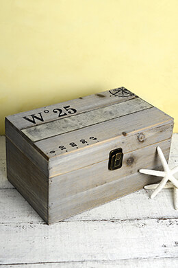 Wood Maritime Box with Latch 10x6