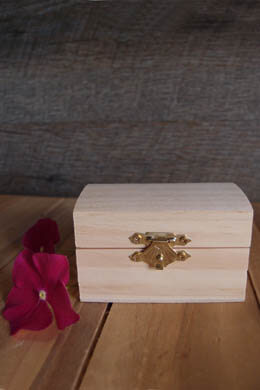 Tiny Unfinished Wood Wedding Ring Box 3.25""