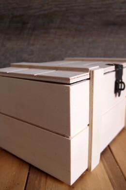 """Hinged Lid Pallet Storage Crate  7.5"""""""