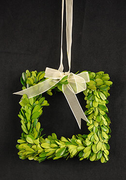 Boxwood Wreath Square 8in