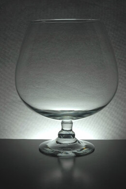 Large Brandy Glass Vase 11.5 in