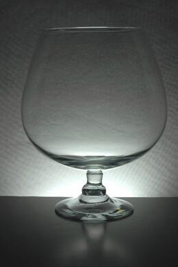 Large Brandy Glass Vase 11.5 in