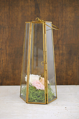 Brass Lantern 10in