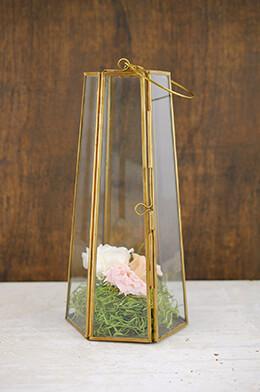 Brass Lantern 10in