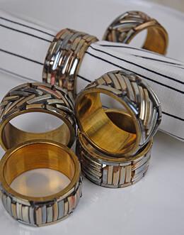 Brass Napkin Rings (Set of 6)