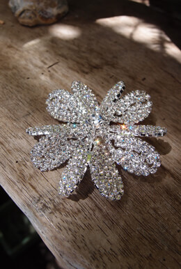 Bridal Bouquet Jeweled Pin