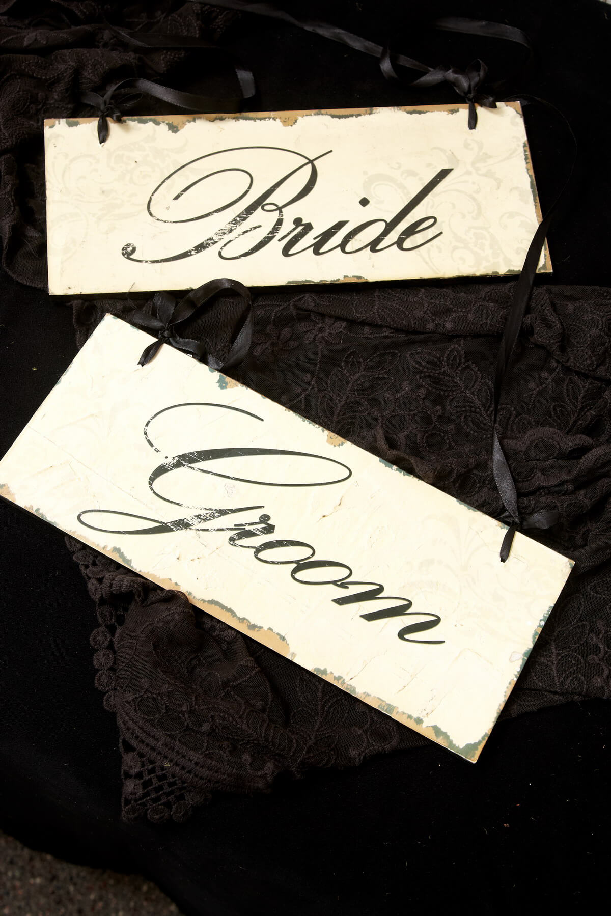 Bride and Groom Signs (Set of 2)