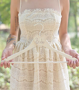 Bride Clothes Hanger Cream