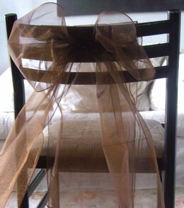 Organza Chair Sashes Brown Pack of 10