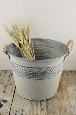 Galvanized 9 x 12 Bucket with Rope Handles