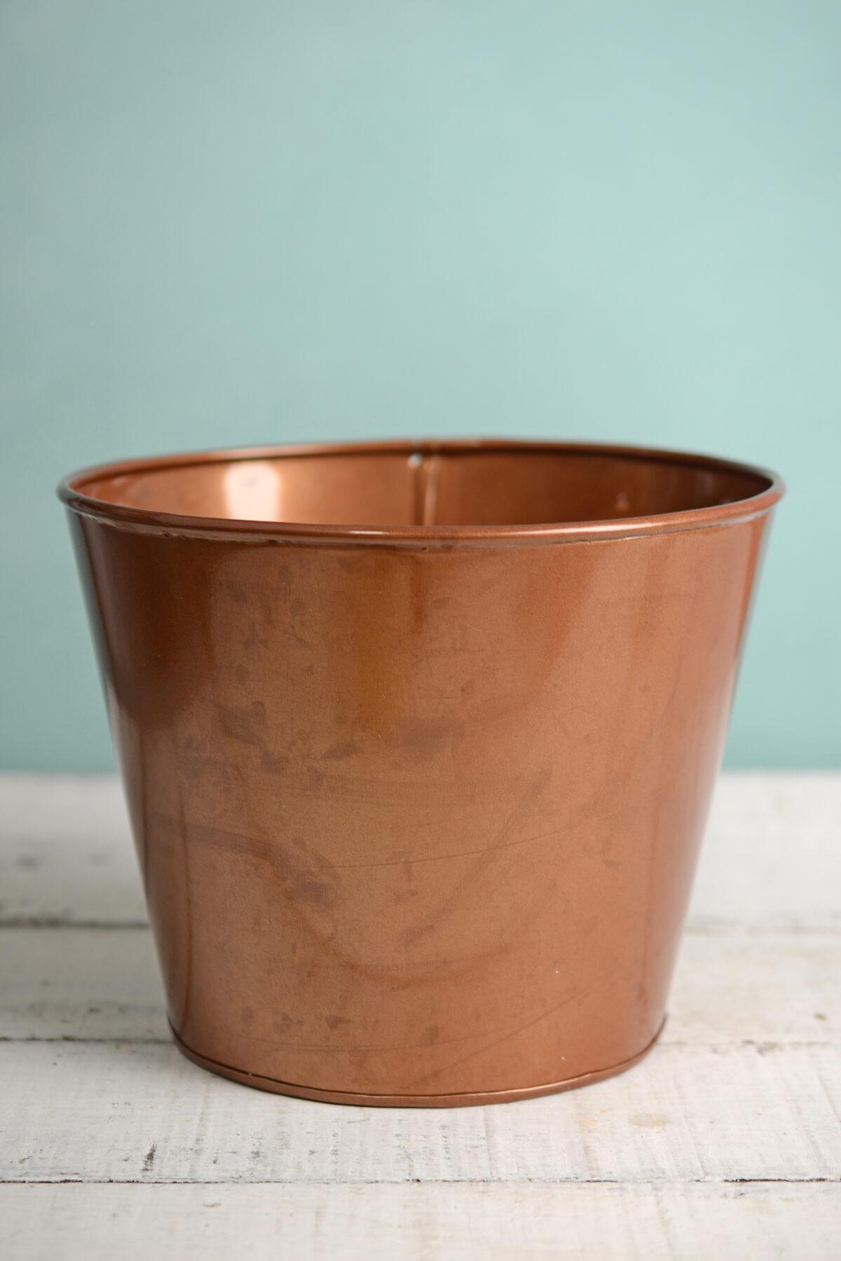 """6"""" Pink Copper Bucket Vase"""