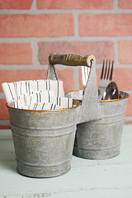 Double Bucket Utensil Holder