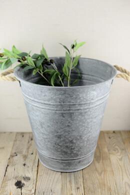 Metal 14x14 Bucket w/Rope Handles