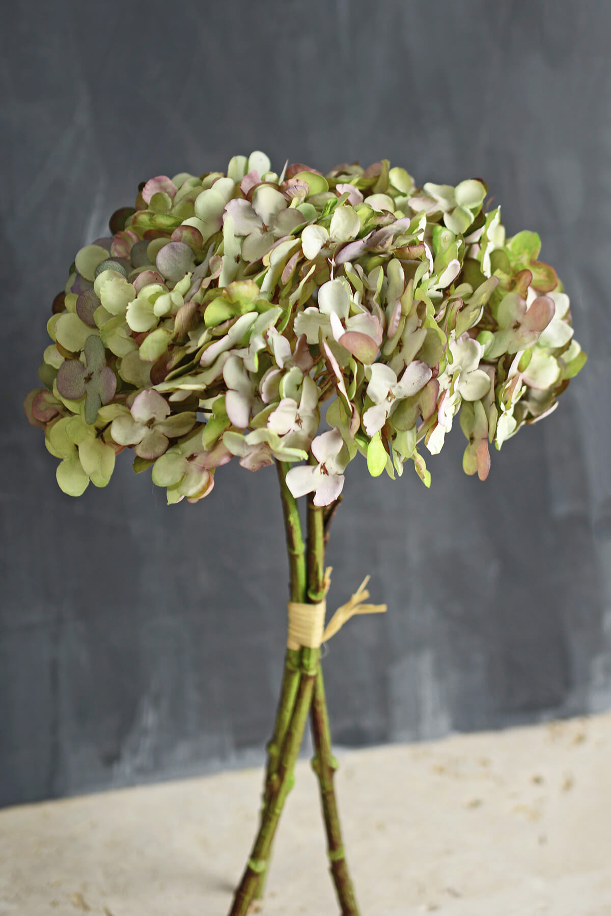 Shabby Chic Green Two Tone  Hydrangea Bouquet