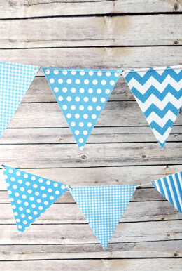 Baby Blue Flag Banner 11 Feet