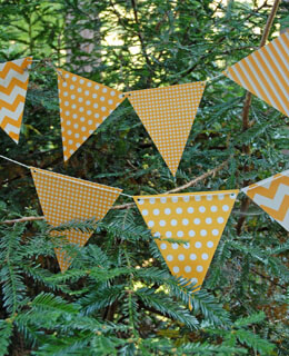 Bunting Banner Light Orange Patterns (12 Pennants)