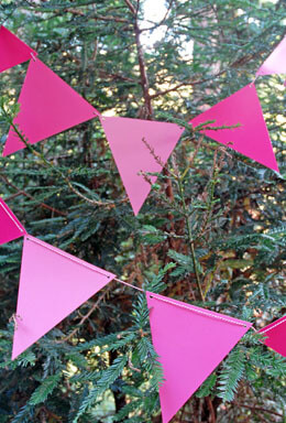 Pink Ombre Pennant Banner 11 Ft