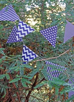 Bunting Banner Purple Patterns (12 Pennants)