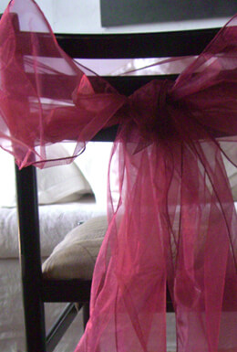 10 Organza Chair Sashes Burgundy