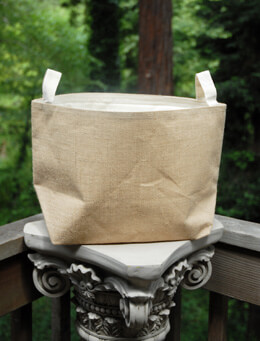"Burlap Bag Natural 13"" x 8"" x 11"""
