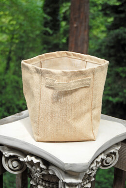 "Burlap Bag Natural 9"" x 7"" x 9"" (Set of 6)"