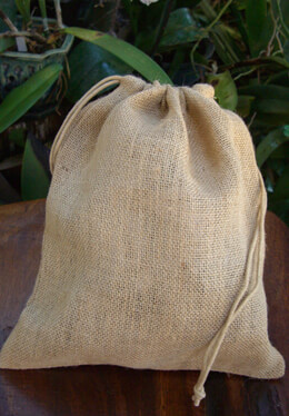 Burlap Bags with Drawstring 10x12 (Pack of 12)