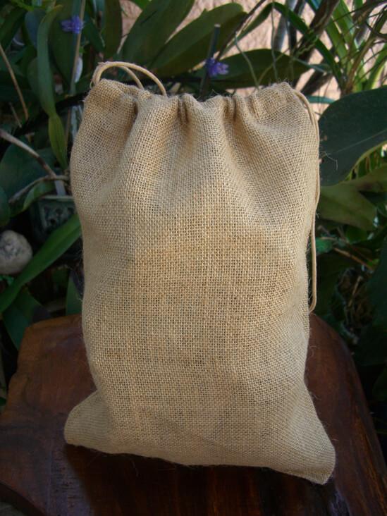 Burlap Bags Drawstring 10x14 (12 bags)