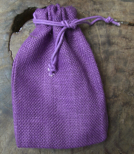 Burlap Bags Purple 7in | Pack of 12