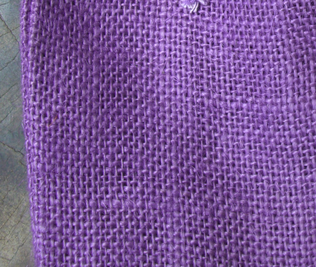 12 Purple Drawstring Burlap Bags 5x7