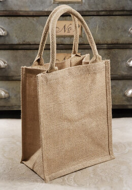 Burlap Bags with Handles 11x9 (6 bags)