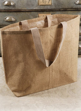 Beach Tote Burlap Bag 22in