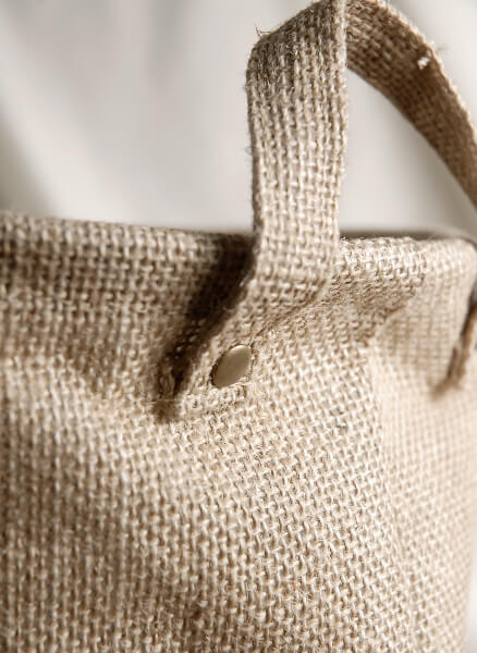 Burlap bag w handles and liner 9x9 for Save on crafts burlap