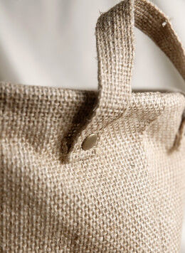 Burlap Bag w/Handles and Liner 9x9
