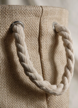 Burlap Bag with Rope Handles and Liner 11in