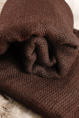 "Burlap Fabric Dark Brown 36"" x 5yd"