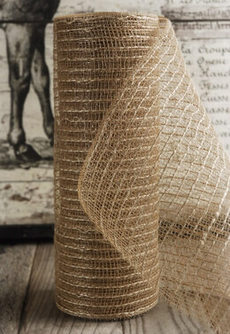 "Burlap Mesh 10"" wide x 10 yards"