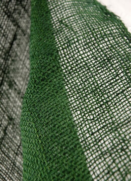 "Burlap Natural Fabric Green 36"" width 5 yards"