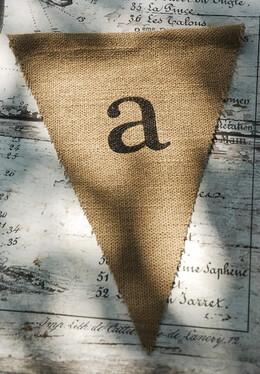 Burlap Pennant Letter A