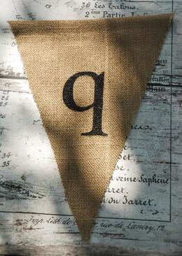 Burlap Pennant Banner Letter Q