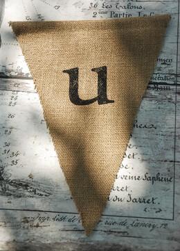 Burlap Pennant Banner Letter U